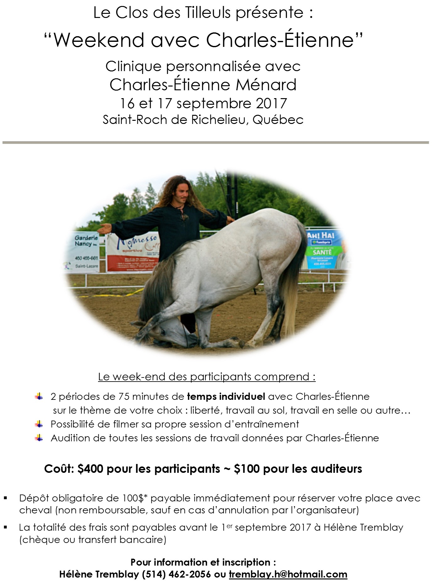 Le Clos des Tilleuls présente: « Weekend avec Charles-Étienne »